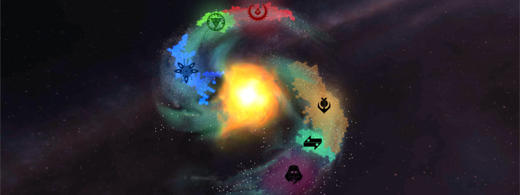 Galaxy map - faction boundaries