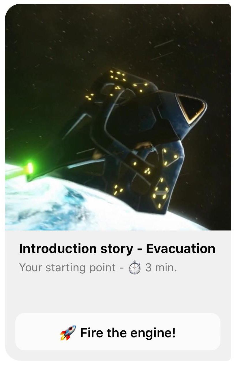CHATBOT STORY 1 EVACUATION - Nebulae messenger chatbot stories