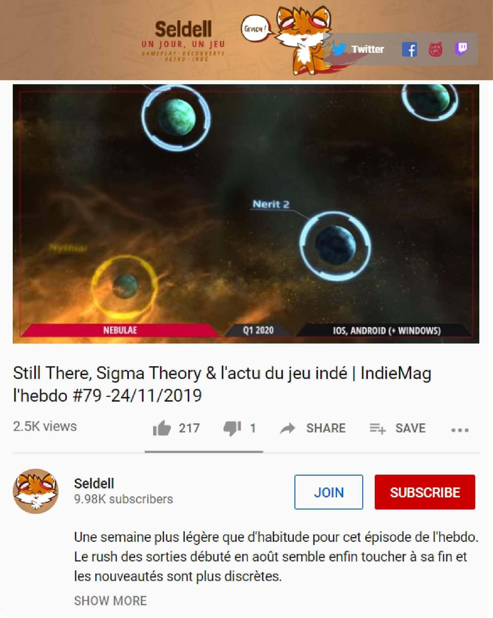 KS Nebulae Seldell review hebdo pastille low res