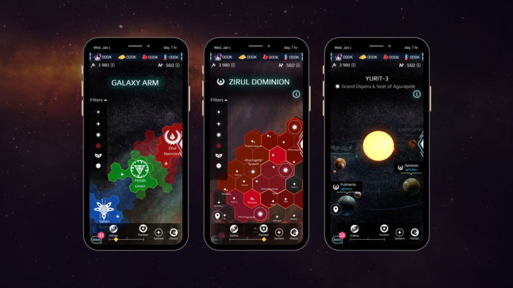 Galaxy Map _ Mobile Interface Sketches