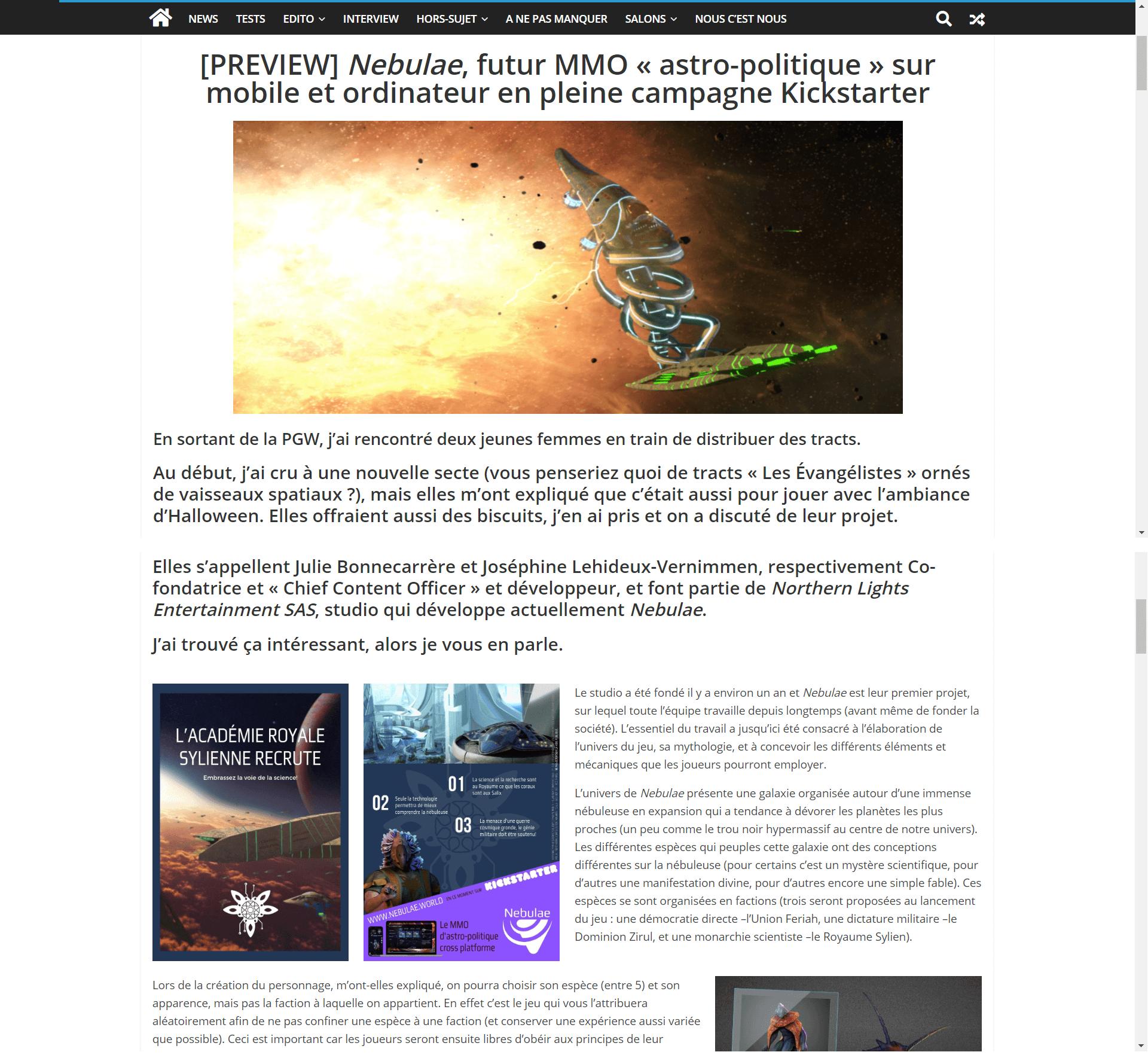 Airgaming Article Screenshot